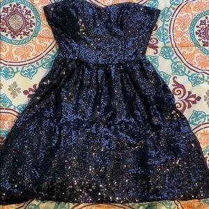 strapless sequins dress